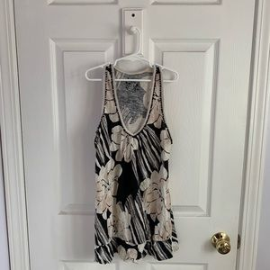 Anthropologie Floral Tank Top